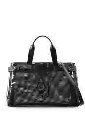 SHOPPING BAG TRAFORATA NERA ARMANI JEANS