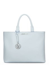 SHOPPING BAG BIANCA CON RIFINITURE BLU ARMANI JEANS